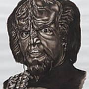 lieutenant commander Worf Star Trek TNG Poster by Giulia Riva