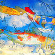 Life Is But A Dream - Koi Fish Art Poster by Sharon Cummings