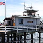 Lifeguard Headquarters On The Municipal Wharf At Santa Cruz Beach Boardwalk California 5d23827 Poster by Wingsdomain Art and Photography