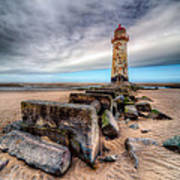 Lighthouse At Talacre  Poster by Adrian Evans
