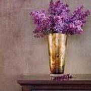 Lilacs In Vase 1 Poster by Rebecca Cozart