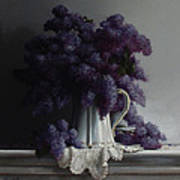 Lilacs Study No.2 2011 Poster by Larry Preston
