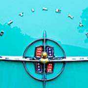 Lincoln Continental Rear Emblem Poster by Jill Reger