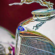 Lincoln Hood Ornament - Grille Emblem -1187c Poster by Jill Reger