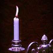 Lit Candle Poster by Amanda And Christopher Elwell