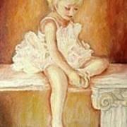 Little Ballerina Poster by Carole Spandau