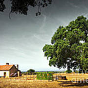 Little Rural House Poster by Carlos Caetano