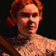 Lizzie Bordon Took An Ax - Painterly - Black Poster by Wingsdomain Art and Photography