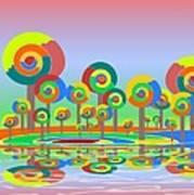 Lollypop Island Poster by Anastasiya Malakhova