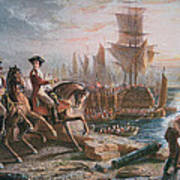 Lord Howe Organizes The British Evacuation Of Boston In March 1776 Poster by English School