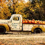 Loukonen Farms Pumpkin Truck Poster by Catherine Fenner