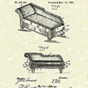Lounge 1890 Patent Art Poster by Prior Art Design