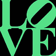 Love 20130707 Green Black Poster by Wingsdomain Art and Photography