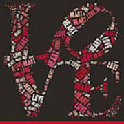 Love Quatro Heart - S111b Poster by Variance Collections