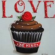 Love Valentine Cupcake Poster by Catherine Holman