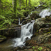 Lower Amicalola Falls Poster by Debra and Dave Vanderlaan