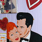 Lucille Ball At Peggy Sues Diner In Yermo California Poster by Robert Ford