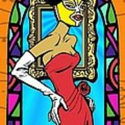 Lucky Lucy The Luchador Poster by Renee Reeser Zelnick