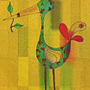 Lutgarde's Bird - 061109106y Poster by Variance Collections