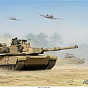 M1a2 Abrams Poster by Mark Karvon