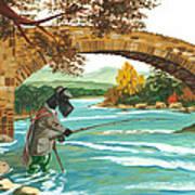 Macduff Fishing Poster by Margaryta Yermolayeva
