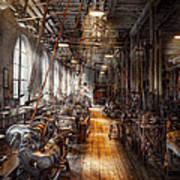 Machinist - Welcome To The Workshop Poster by Mike Savad