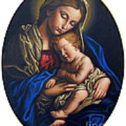 Madonna And Child Poster by Jane Whiting Chrzanoska