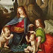 Madonna Of The Rocks Poster by Leonardo da Vinci