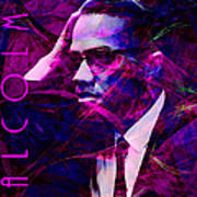 Malcolm X 20140105m88 With Text Poster by Wingsdomain Art and Photography