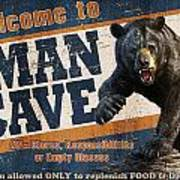 Man Cave Balck Bear Poster by JQ Licensing