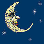 Man In The Moon Dazzled Poster by R  Allen Swezey