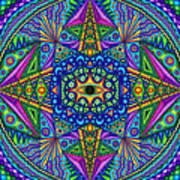Mandala Madness Poster by Matt Molloy