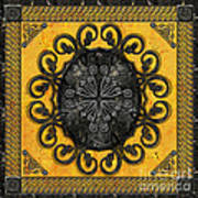 Mandala Obsidian Cross Poster by Bedros Awak
