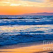 Manhattan Beach Sunset Poster by Inge Johnsson