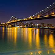 Manhattan Bridge Poster by Mircea Costina Photography