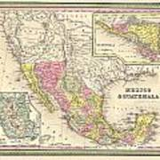Map Of Mexico Poster by Gary Grayson