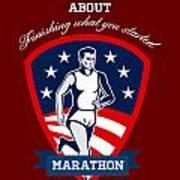 Marathon Runner Finish What You Start Poster Poster by Aloysius Patrimonio