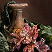 Marble Vase With Lilies Poster by Hugo Bussen