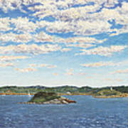 Marblehead View Poster by Elaine Farmer
