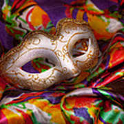 Mardi Gras - Celebrating Mardi Gras  Poster by Mike Savad