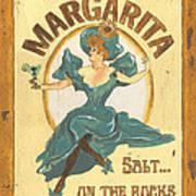 Margarita Salt On The Rocks Poster by Debbie DeWitt