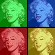 Marilyn Monroe Colored Frame Pop Art Poster by Daniel Hagerman