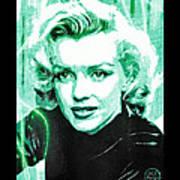 Marilyn Monroe - Green Poster by Absinthe Art By Michelle LeAnn Scott