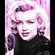 Marilyn Monroe - Pink Poster by Absinthe Art By Michelle LeAnn Scott