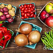 Market Fruits And Vegetables Poster by Elena Elisseeva