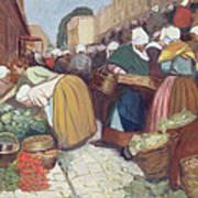 Market In Brest Poster by Fernand Piet