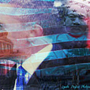 Martin And Obama Poster by Lynda Payton