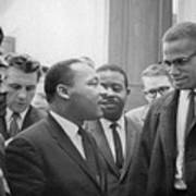 Martin Luther King Jnr 1929-1968 And Malcolm X Malcolm Little - 1925-1965 Poster by Marion S Trikoskor
