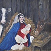 Mary And Baby Jesus Poster by Linda Clark