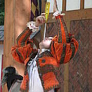 Maryland Renaissance Festival - Johnny Fox Sword Swallower - 121244 Poster by DC Photographer